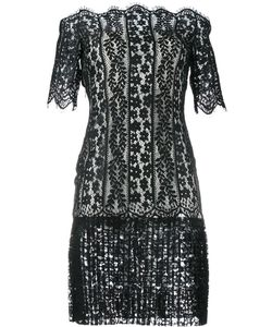 Huishan Zhang | Off-Shoulder Lace Dress 12 Polyester/Nylon/Silk