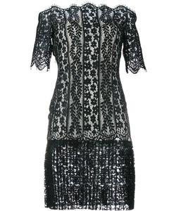Huishan Zhang | Off-Shoulder Lace Dress 12 Polyester/Nylon/Silk