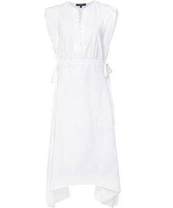 Derek Lam | Drawstring Dress 42 Cotton/Spandex/Elastane