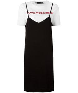 Love Moschino | Layered T-Shirt Dress Size 42 Cotton