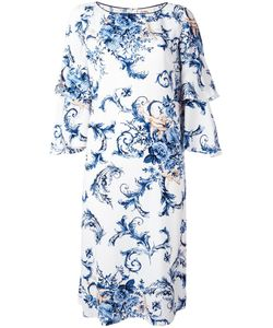 Antonio Marras | Ruffle Sleeve Dress 42 Cupro/Viscose/Spandex/Elastane