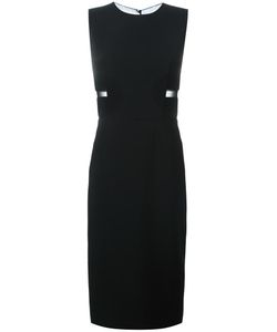 Tom Ford | Sheer Panel Midi Dress 42 Viscose/Acetate/Spandex/Elastane/Spandex/Elastane
