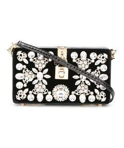 Dolce & Gabbana | Dolce Box Clutch Leather/Velvet/Crystal/Metal