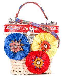 Dolce & Gabbana   Dolce Wicker Basket Tote Straw/Leather