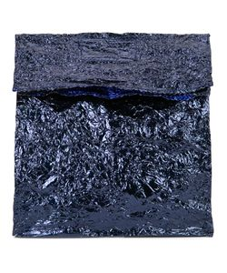 Zilla   Medium Steel Lunch Clutch Leather