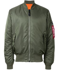 Alpha Industries | Ruched-Sleeve Bomber Jacket Xxs Nylon