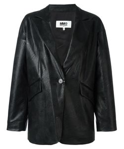 MM6 by Maison Margiela | Mm6 Maison Margiela Leather Effect Boxy Blazer 42