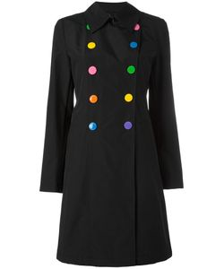 Love Moschino | Double-Breasted Flared Coat 44 Cotton/Polyamide/Polyester
