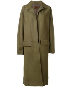 YEEZY | Open Mid Leather Coat Xs Lamb Skin/Polyester