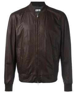 Brunello Cucinelli | Leather Bomber Jacket Xxl Leather/Cupro