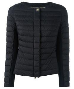 Herno | Collarless Padded Zipped Jacket 38 Polyamide/Spandex/Elastane/Polyester