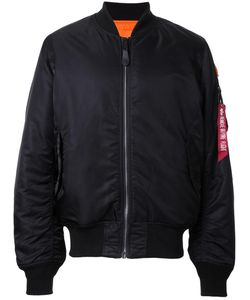 Alpha Industries | Ruched-Sleeve Bomber Jacket Large Nylon