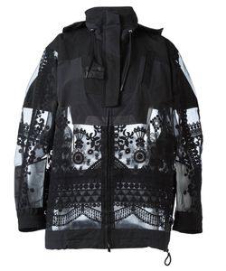 Sacai | Tribal Lace Military Jacket Medium Polyester/Cotton/Nylon