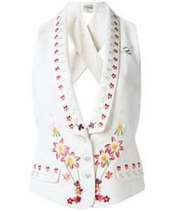 Temperley London | Juniper Cross-Back Waistcoat 8 Polyester/Viscose
