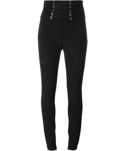 Philipp Plein | Lace-Up Skinny Trousers Small Acetate/Viscose/Spandex/Elastane