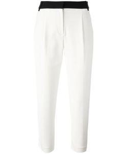 Tibi | Contrasting Waistband Cropped Trousers 2 Acetate/Polyamide/Spandex/Elastane/Silk