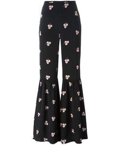VILSHENKO | Ruffled Legs Hi-Rise Trousers 10 Silk