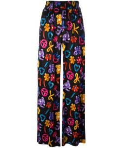 Love Moschino | Multiple Prints Straight Trousers 42 Viscose