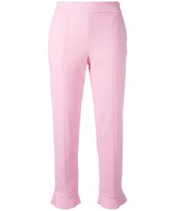 MSGM | Tapered Cropped Trousers 42 Cotton/Polyamide/Spandex/Elastane/Polyester