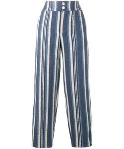 Chloe | Chloé Striped Canvas Trousers Size 38 Cotton/Linen/Flax/Viscose