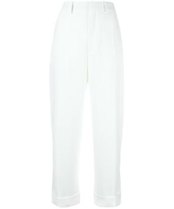 Chloe | Chloé Straight Leg Tailored Trousers 34 Acetate/Silk/Cotton