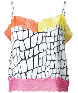 DRESS CAMP | Dresscamp Contrasting Lace Trim Top 36 Silk
