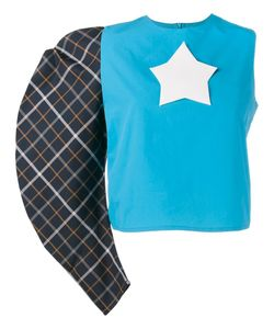 A.W.A.K.E | One Sleeve Star Logo Top 40 Nylon/Polyester/Cotton