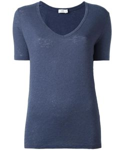 Closed | V-Neck T-Shirt Xs Cotton/Linen/Flax