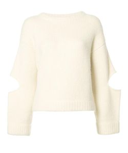 Derek Lam | Cut Out Fuzzy Sweater Small Silk/Cashmere