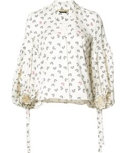 HELLESSY | Balloon Sleeves Print Blouse 6 Silk