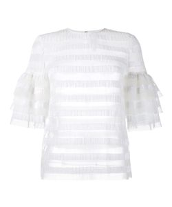 Huishan Zhang | Striped Sequin Top 12 Polyester/Nylon/Sequin