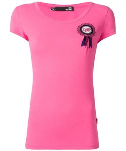 Love Moschino   Chest Embroidered Logo T-Shirt 42 Cotton/Spandex/Elastane