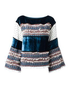 See By Chloe | See By Chloé Velvet And Tweed Panelled Top 32