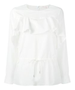 See By Chloe | See By Chloé Ruffled Drawstring Blouse 40 Cotton