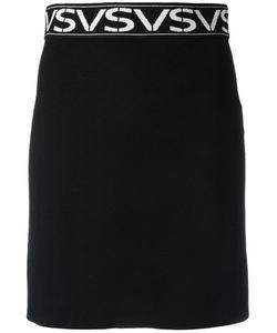 Versus | Logo Intarsia Skirt 42 Viscose/Polyester