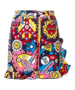 Love Moschino | Print Straight Skirt 38 Cotton/Spandex/Elastane
