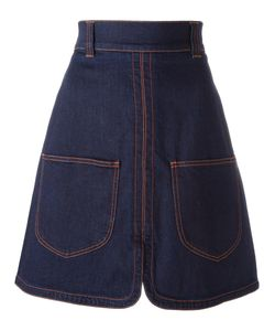 See By Chloe | See By Chloé Patch Pocket Denim Skirt 42