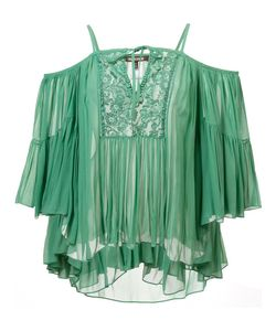 Roberto Cavalli | Cold Shoulder Keyhole Top 40 Silk