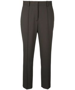 Jil Sander | Tailored Cropped Trousers 38 Virgin Wool/Spandex/Elastane/Polyester/Viscose