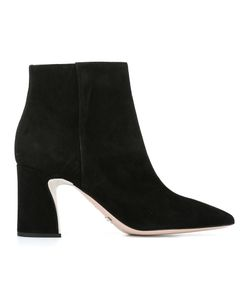 SEBASTIAN MILANO | Ankle Boots 37.5 Suede/Leather/Rubber