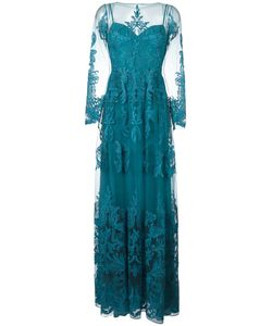 Zuhair Murad | Draped Sheer Maxi Dress 40 Silk/Polyamide