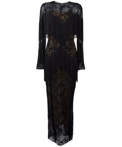 Zuhair Murad | Slip Tassel Maxi Dress 42 Silk/Polyamide