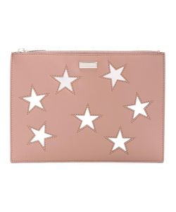 Stella Mccartney | Embroidered Star Clutch Bag Polyurethane