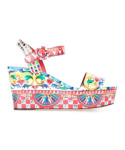 Dolce & Gabbana | Bianca Wedge Sandals 39 Leather