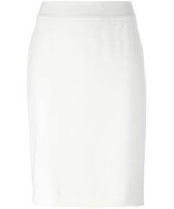 Armani Collezioni | Rear Slit Pencil Skirt 42 Polyester/Spandex/Elastane