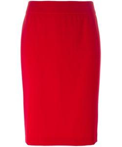 Armani Collezioni | Rear Slit Pencil Skirt 46 Polyester