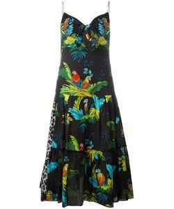 Marc Jacobs | Parrot Print Dress 4 Cotton/Silk