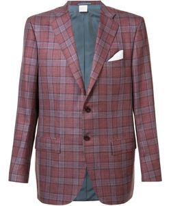Kiton | Checked Blazer 54 Silk/Linen/Flax/Cashmere