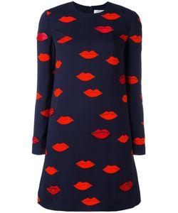 Victoria, Victoria Beckham | Victoria Victoria Beckham Lip Print Dress 12 Viscose/Spandex/Elastane
