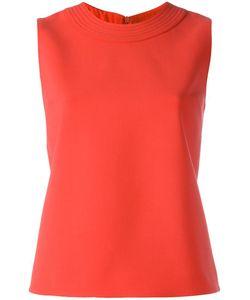Victoria, Victoria Beckham | Victoria Victoria Beckham Stitched Detail Tank 10 Silk/Wool/Spandex/Elastane/Cotton